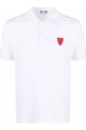 Comme des Garçons Men Polo Shirts - Logo-patch cotton polo shirt