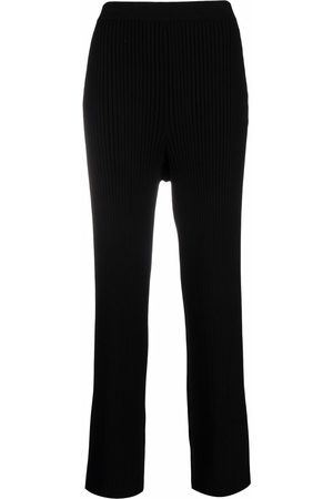 Filippa K Women Wide Leg Trousers - Rib-knit flared trousers