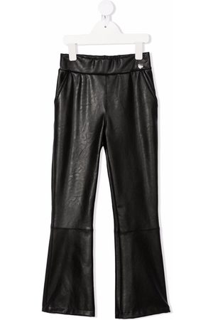 MONNALISA Faux-leather flared trousers