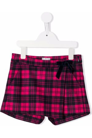 Il gufo Bow-detailed checked shorts