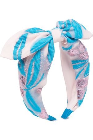 HUCKLEBONES LONDON Boys Bow Ties - Jacquard bow-detail headband