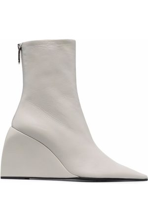 OFF-WHITE Women Wedge Boots - NAPPA DOLL WEDGE BOOTIE NO COLOR