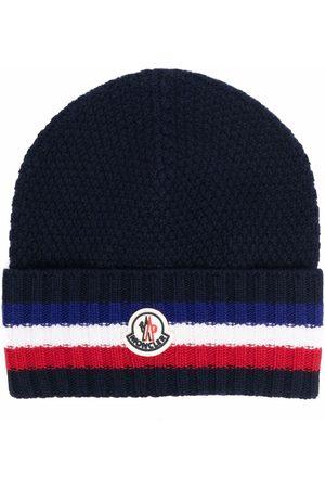 Moncler Men Beanies - Logo patch knitted beanie