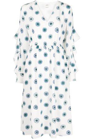 Jason Wu Floral-print silk midi dress