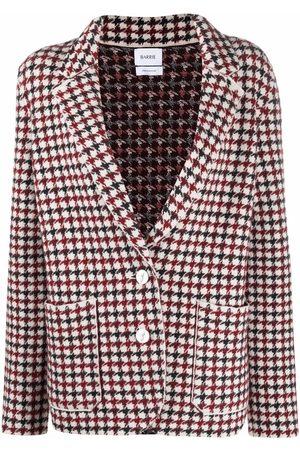 Barrie Houndstooth-print cashmere blazer