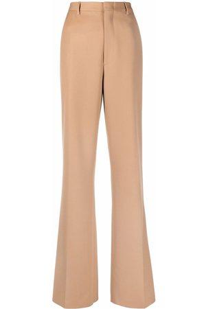 Etro High-waist flared wool trousers - Neutrals