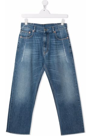 MM6 KIDS TEEN mid-rise straight jeans