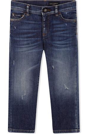 Dolce & Gabbana Straight-leg whiskered jeans