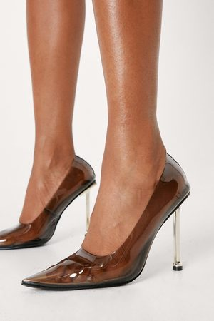 NASTY GAL Womens Clear Pointed Stiletto Court Shoes