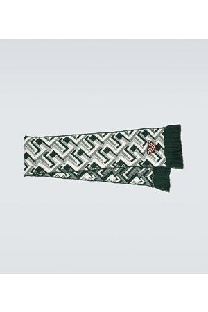 Prada Wool and cashmere jacquard scarf