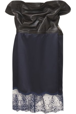 Y PROJECT Satin & Lace Mini Skirt W/wire