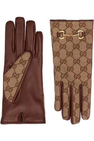 GUCCI Women Gloves - Gg Canvas Gloves W/ Horsebit