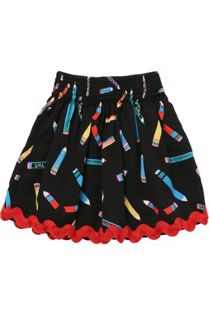 STELLA MCCARTNEY KIDS Pencil Print Tencel Twill Skirt