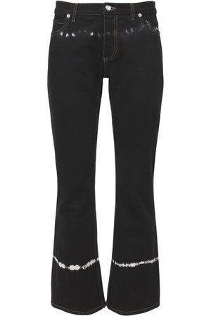 MARNI Tie Dye Cotton Denim Flared Pants