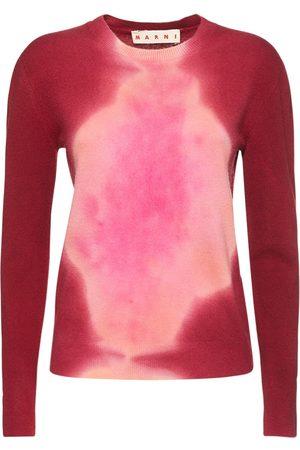 MARNI Women Jumpers - Tye Die Knit Crewneck Sweater
