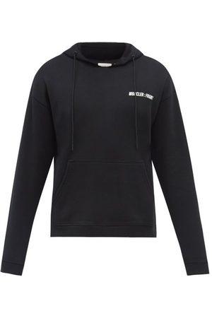 7 MONCLER FRAGMENT HIROSHI FUJIWARA Logo-print Cotton-jersey Hooded Sweatshirt - Mens