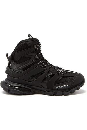 Balenciaga Men Trainers - Track Hike Panelled Faux-leather Trainers - Mens