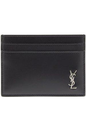 Saint Laurent Ysl-plaque Smooth-leather Cardholder - Mens