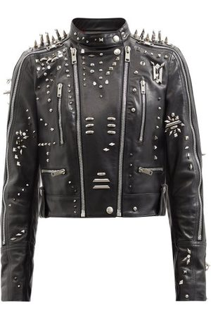 Givenchy Studded Cropped Leather Jacket - Womens