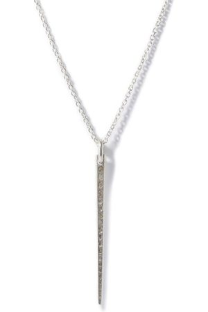 PARTS OF FOUR Medium Spike Diamond & Sterling- Necklace - Mens