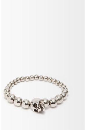 Alexander McQueen Skull Spherical-bead Metal Bracelet - Mens