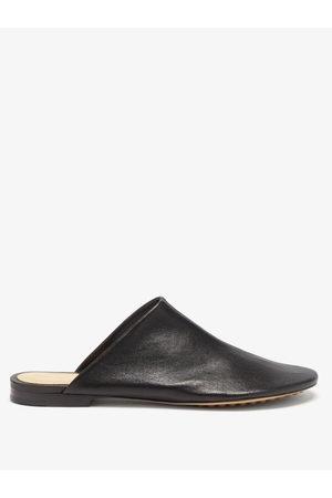 Bottega Veneta Dot Sock Backless Leather Loafers - Womens