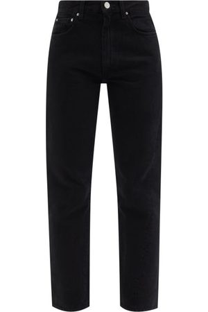 Totême Twisted-seam Cropped Jeans - Womens