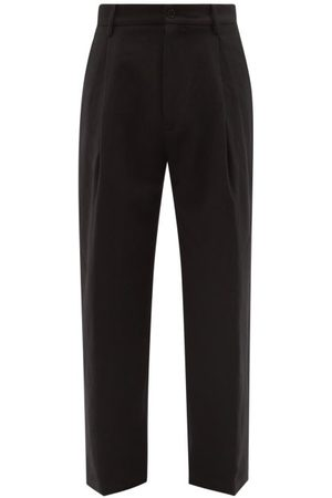Raey Wide-leg Linen And Wool-blend Pleated Trouser - Mens