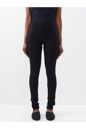 Totême Women Leggings - Zipped-cuff Jersey Leggings - Womens