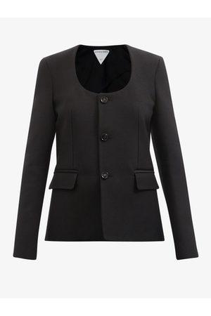Bottega Veneta Women Coats - Scoop-neck Grain-de-poudre Jacket - Womens