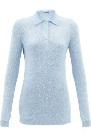Prada Point-collar Mohair-blend Sweater - Womens