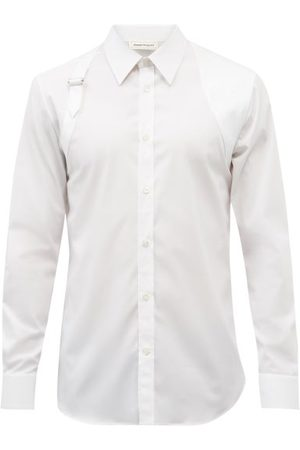 Alexander McQueen Harness Cotton-blend Poplin Shirt - Mens