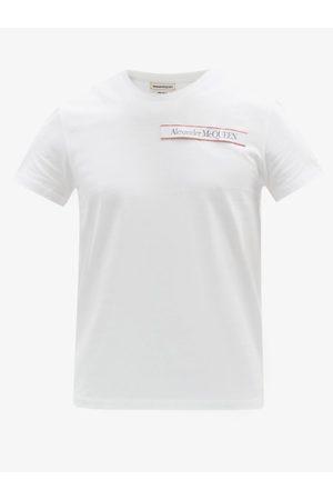 Alexander McQueen Logo-tab Cotton-jersey T-shirt - Mens