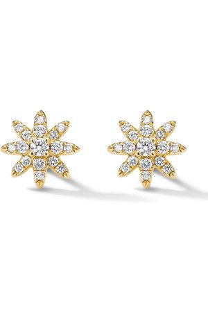 David Yurman 18kt yellow petite Starburst diamond stud earrings