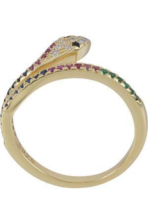 Nialaya Embellished snake ring