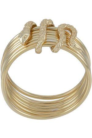 Nialaya Stacked snake ring