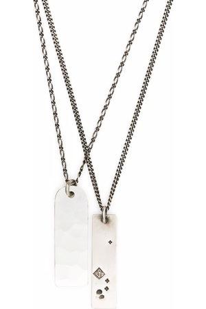 Werkstatt:München Double dog tag necklace - Metallic