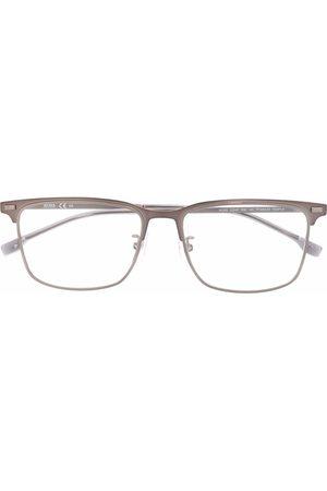 Boss Hugo Boss Matte-effect rectangle-frame glasses