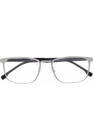 BOSS Matte-effect rectangle-frame glasses