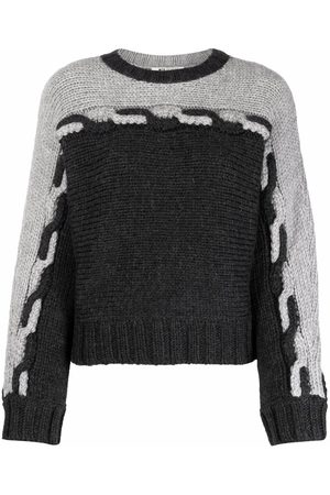 PORTS 1961 Two-tone chunky knit jumper