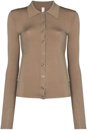 DION LEE Buttoned polo-style cardigan - Neutrals