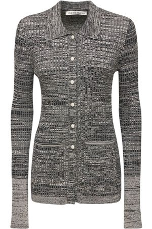LIVE THE PROCESS Marl Collared Cardigan
