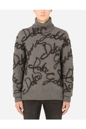 Dolce & Gabbana Men Turtlenecks - Sweaters and Cardigans - Cashmere turtle-neck sweater with embroidery male 42