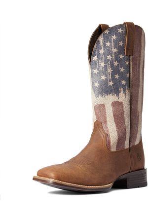 Ariat Men Cowboy Boots - Men's Patriot Ultra Western Boots in Sorrel Crunch Leather