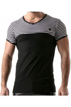 TOF Paris Men Polo Shirts - Striped T-Shirt - XL