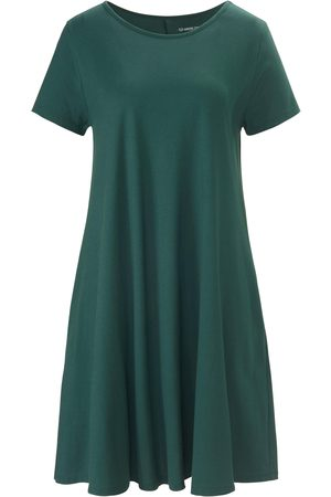 Green Cotton Short-sleeved jersey dress in 100% cotton size: 10