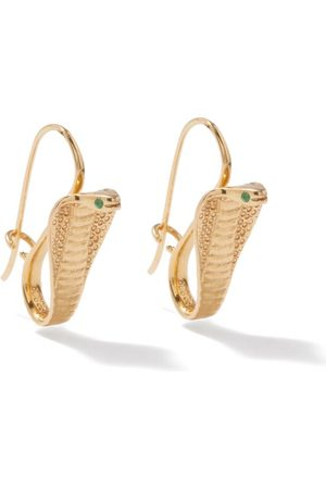 JADE JAGGER Snake Emerald & 18kt Earrings - Womens