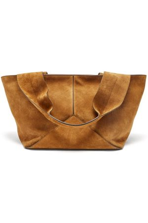 Métier Market Small Suede Weekend Tote Bag - Womens - Tan