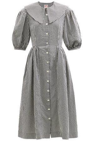 Shrimps Olivia Cotton-gingham Shirt Dress - Womens