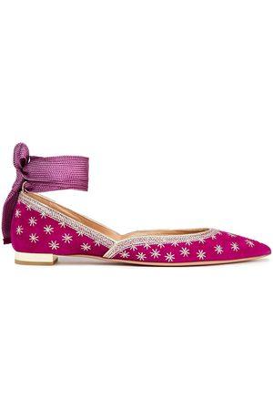 Aquazzura Woman Pointed-toe Flats Magenta Size 35